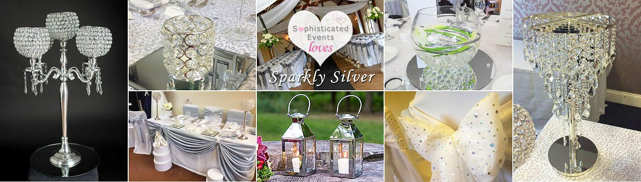 Sparkly Silver Wedding Inspiration Board