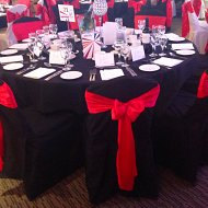 Black cotton fitted chair covers