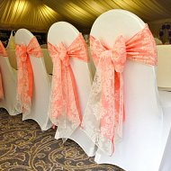 Soft white stretch lycra chair covers