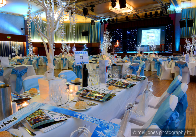 Winter Wonderland awards ceremony stylsing by Sophisticated Events